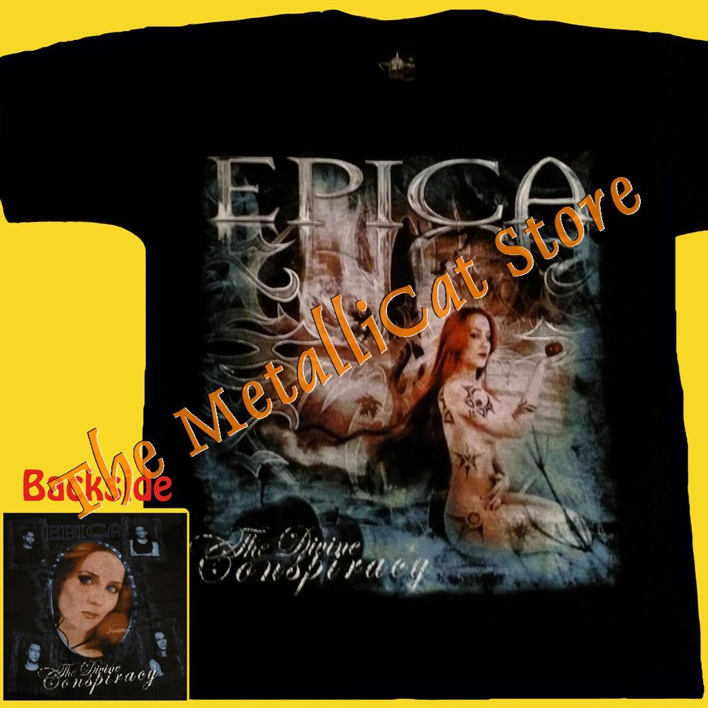 T-SHIRT EPICA The Divine Conspiracy POWER METAL CD SIZE S