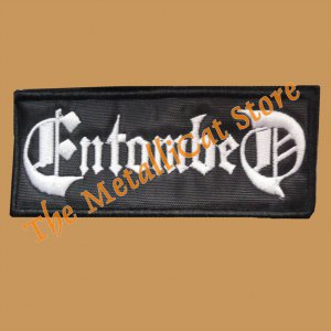 ENTOMBED Left Hand Path Band Logo SMALL EMBROIDERED PATCH CD DEATH METAL