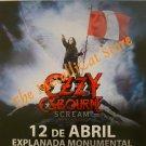 OZZY OSBOURNE Concert in Lima 2011 DVD HEAVY METAL