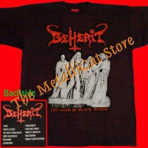 T-SHIRT BEHERIT The Oath of Black Blood CD SIZE XL