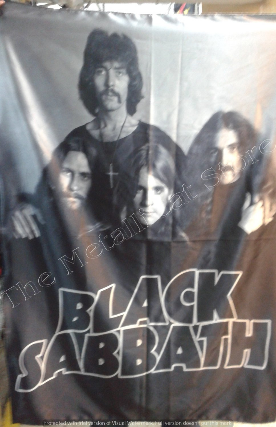 BLACK SABBATH Early Band Paranoid 2 Ozzy FLAG CLOTH POSTER WALL TAPESTRY BANNER CD