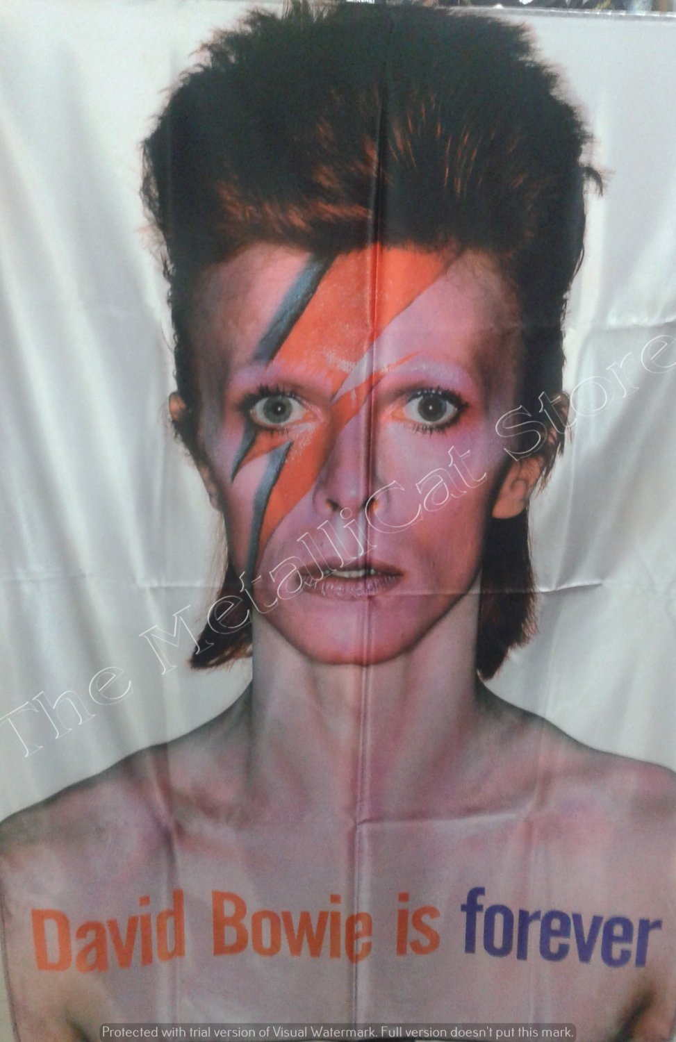 DAVID BOWIE Aladdin Sane FLAG CLOTH POSTER WALL TAPESTRY BANNER CD GLAM ROCK