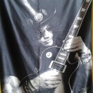 GUNS N' ROSES Slash FLAG BANNER CLOTH POSTER WALL TAPESTRY CD Axel Slash HEAVY