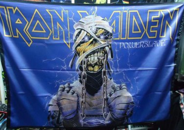 IRON MAIDEN Powerslave FLAG CLOTH POSTER WALL TAPESTRY BANNER CD Heavy Metal