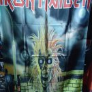 IRON MAIDEN Selftitled First LP FLAG CLOTH POSTER TAPESTRY BANNER CD Heavy Metal