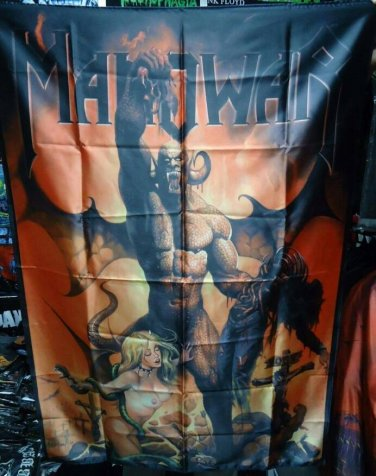 MANOWAR Hell on Earth V FLAG BANNER CLOTH POSTER WALL TAPESTRY CD Power Metal