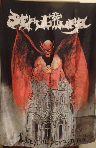 SEPULTURA Bestial Devastation FLAG CLOTH POSTER WALL TAPESTRY BANNER CD Thrash Metal