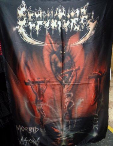 SEPULTURA Morbid Visions FLAG CLOTH POSTER WALL TAPESTRY BANNER CD Thrash Metal