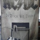 AC/DC In Rock We Trust FLAG CLOTH POSTER WALL TAPESTRY BANNER CD Angus Young HEAVY METAL