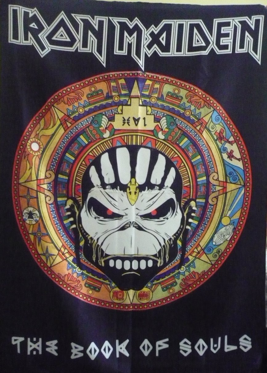 IRON MAIDEN The Book of Souls - World Tour 2017 FLAG CLOTH POSTER WALL TAPESTRY BANNER Heavy Metal