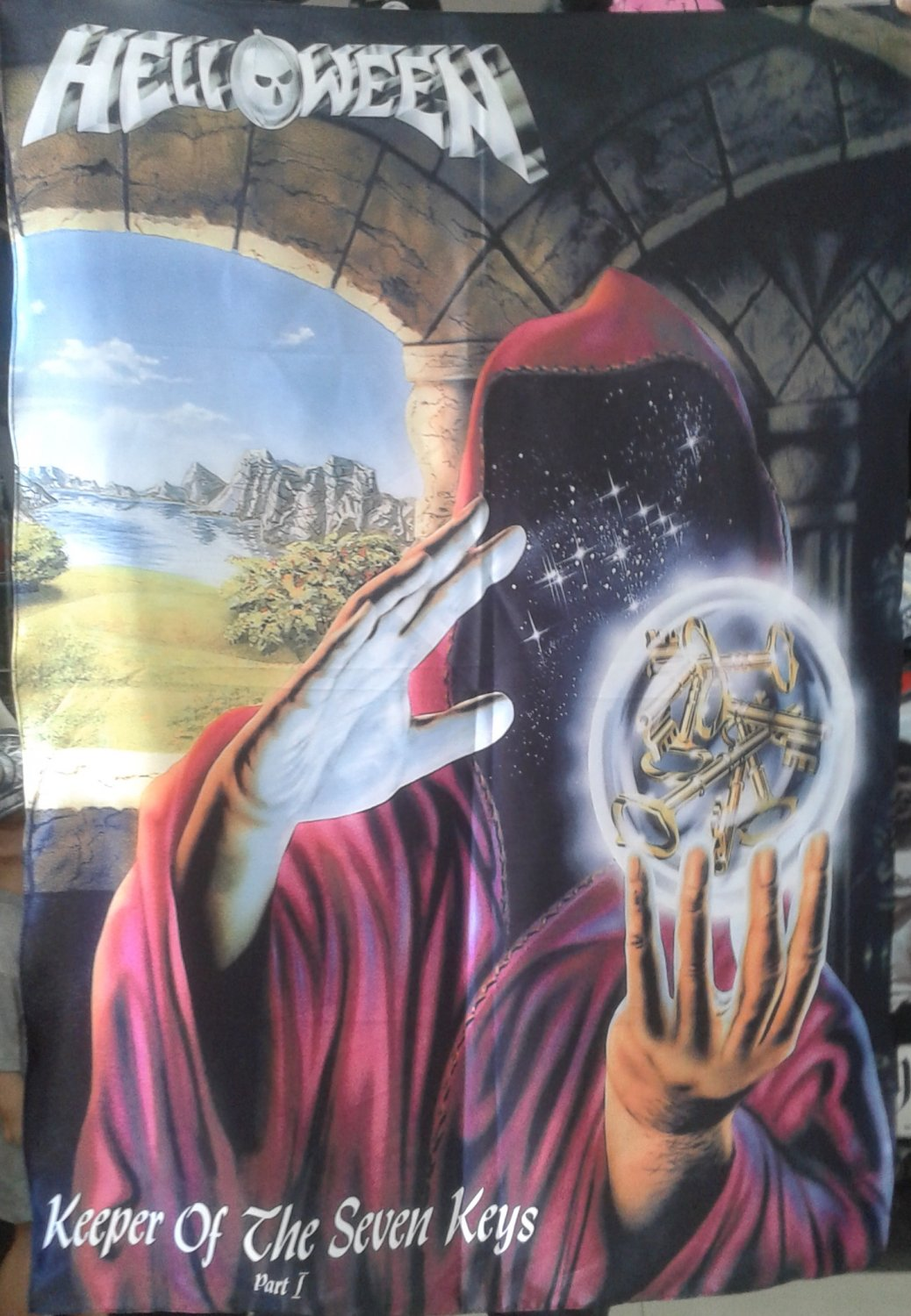 HELLOWEEN Keeper of the Seven Keys - Part I FLAG CLOTH POSTER WALL TAPESTRY BANNER Power Metal