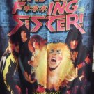TWISTED SISTER We are f***ing Twisted Sister DVD Documental FLAG BANNER CLOTH POSTER Glam Metal