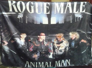 ROGUE MALE Animal Man FLAG CLOTH POSTER WALL TAPESTRY BANNER  TAPESTRY Heavy Metal