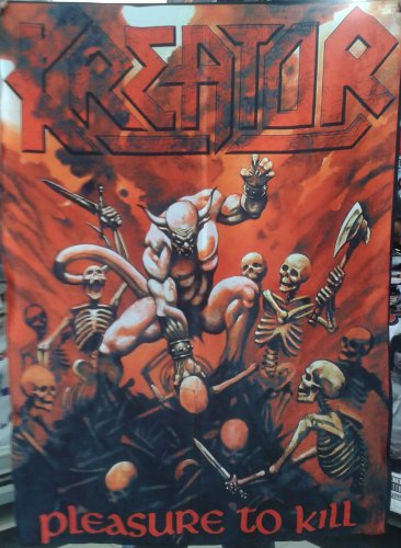 KREATOR Pleasure to Kill FLAG BANNER CLOTH POSTER TAPESTRY Thrash Metal