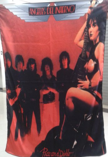 ANGELES DEL INFIERNO Pacto con el Diablo FLAG CLOTH POSTER WALL TAPESTRY BANNER Heavy Metal