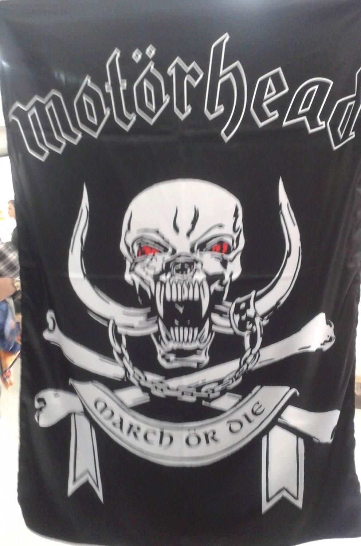 MOTORHEAD March or Die FLAG BANNER CLOTH POSTER Hard Rock