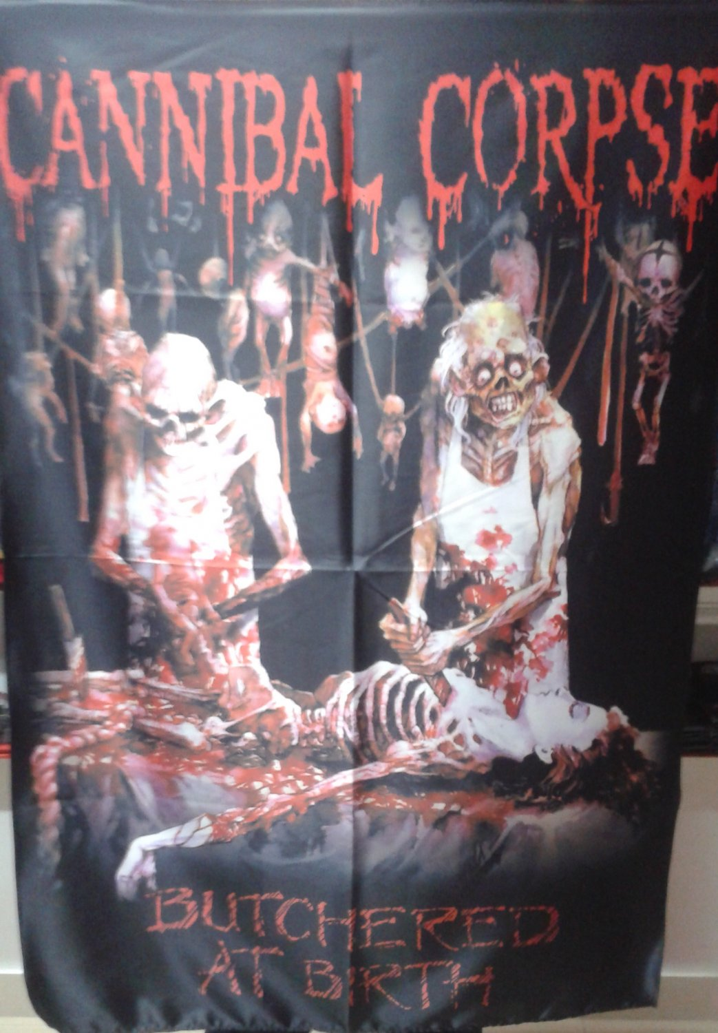 CANNIBAL CORPSE Butchered at Birth FLAG CLOTH POSTER WALL TAPESTRY CD Death Metal