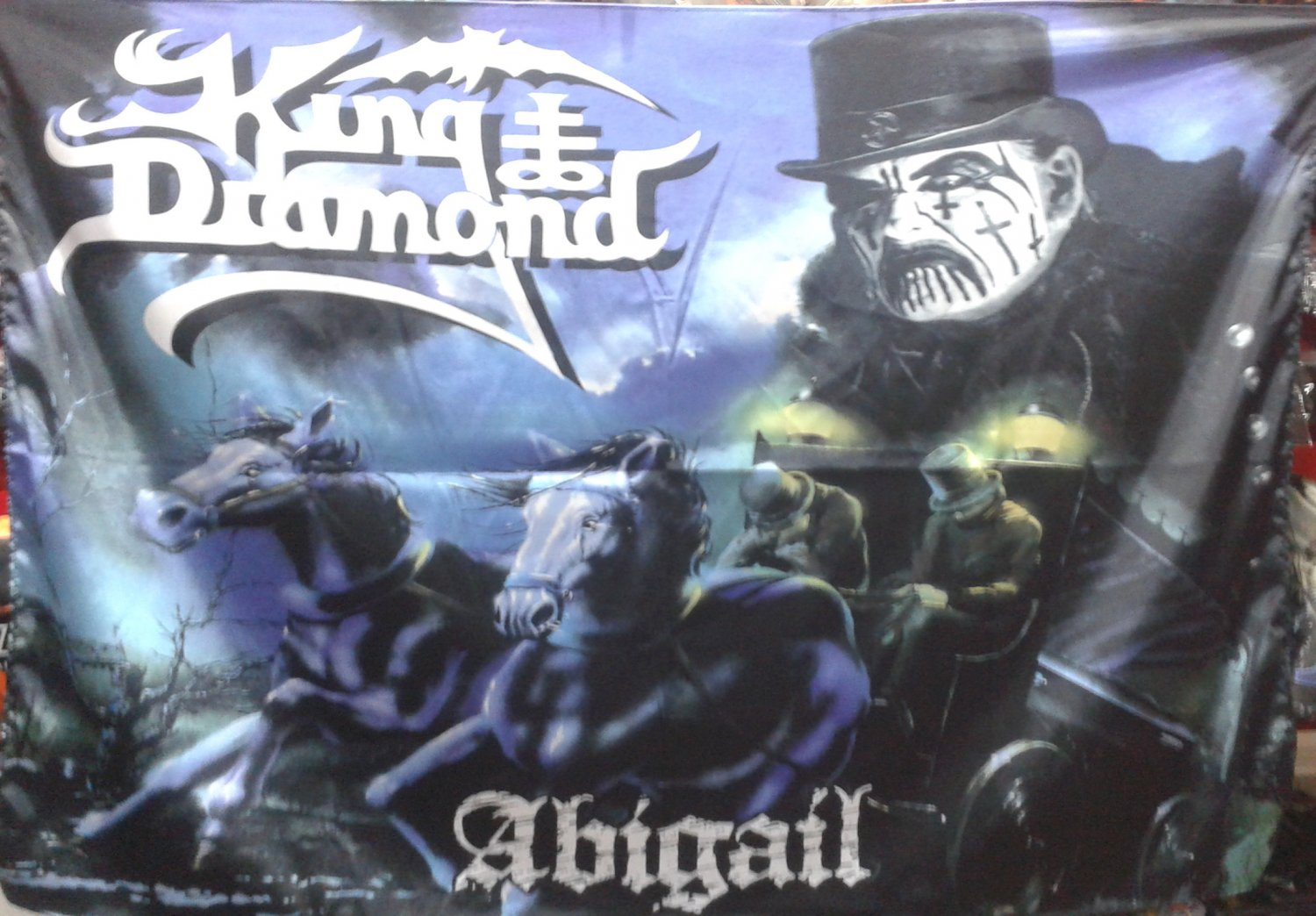 KING DIAMOND Abigail FLAG CLOTH POSTER WALL TAPESTRY BANNER CD Heavy Metal