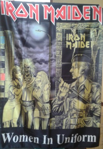 IRON MAIDEN Women in Uniform FLAG CLOTH POSTER WALL TAPESTRY BANNER CD LP