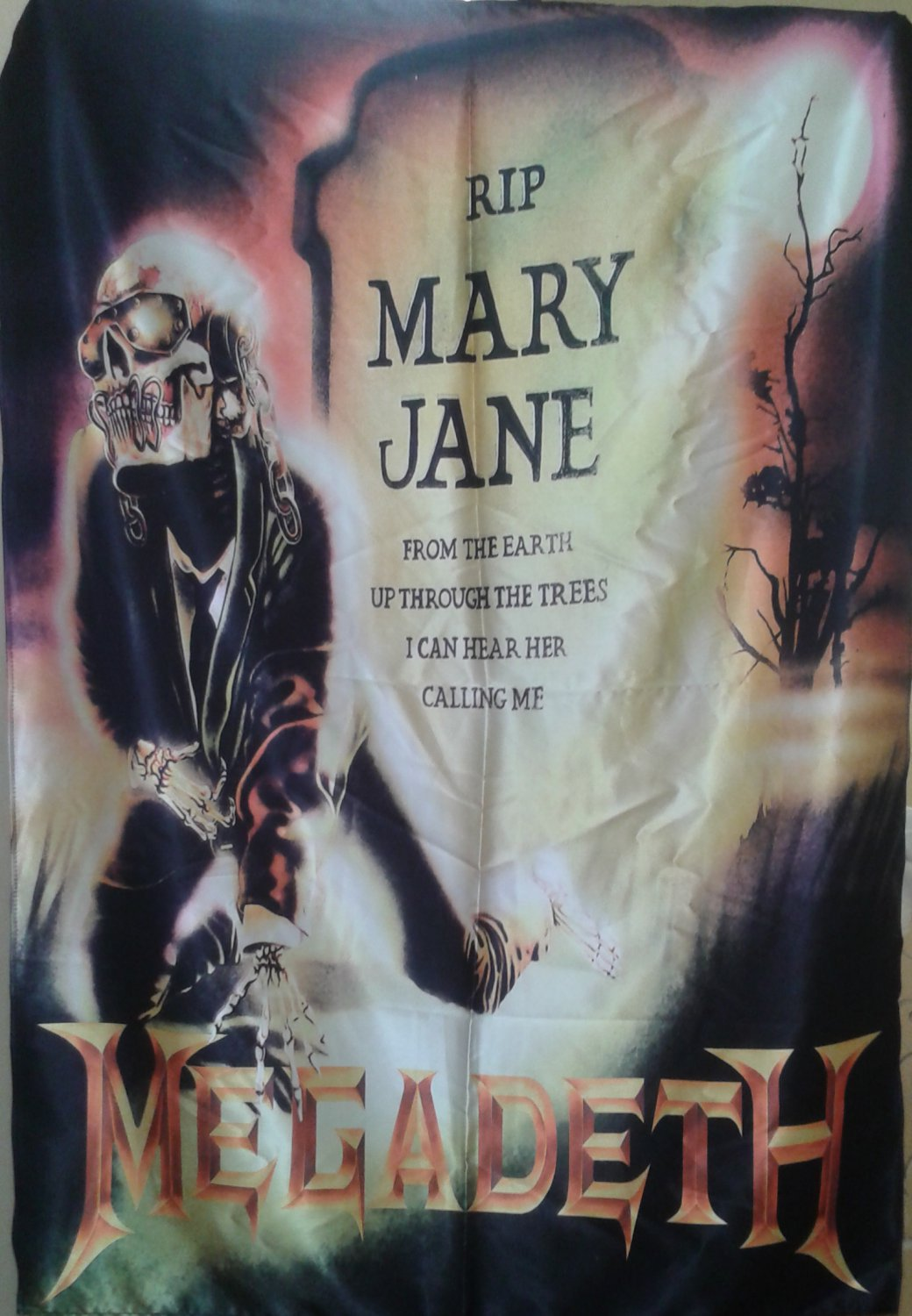 MEGADETH Mary Jane FLAG CLOTH POSTER WALL TAPESTRYAN BANNER Thrash