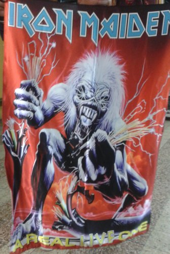 IRON MAIDEN A Real Live One FLAG CLOTH POSTER WALL TAPESTRY CD LP