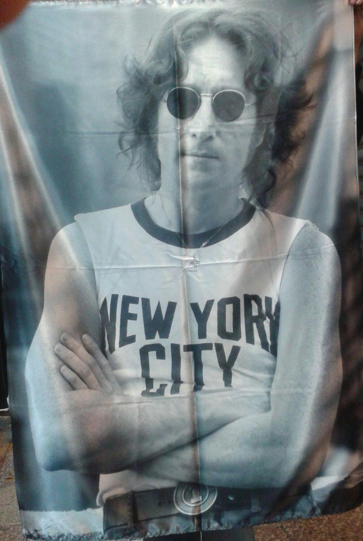JOHN LENNON Imagine FLAG CLOTH POSTER WALL TAPESTRY CD LP The Beatles