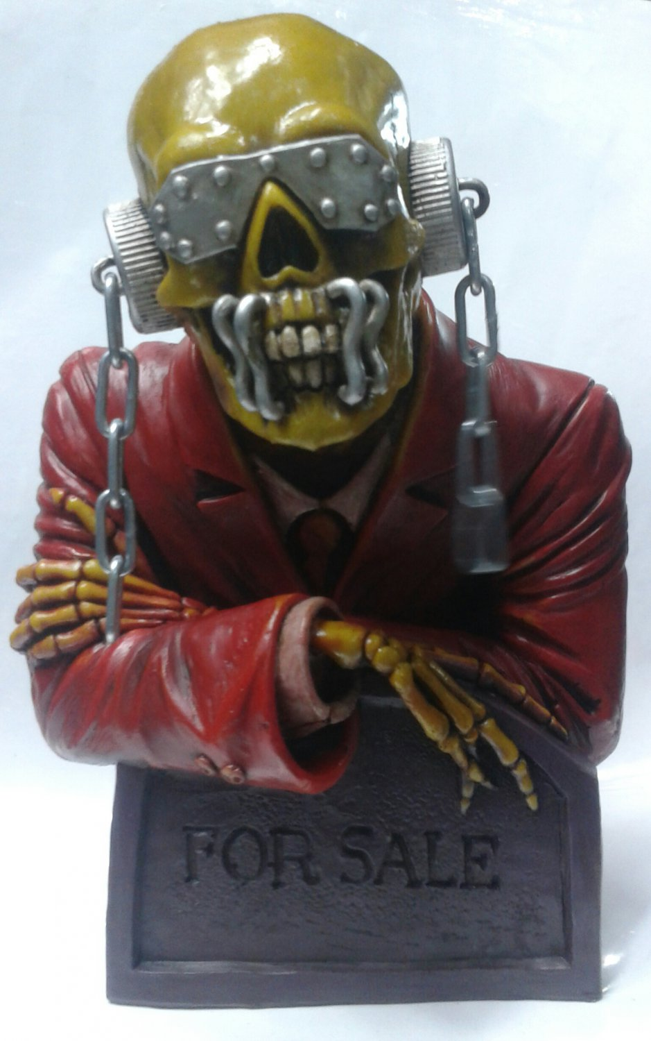 MEGADETH Piece Sells BUST Vic Rattlehead STATUE SCULPTURE CD LP Thrash