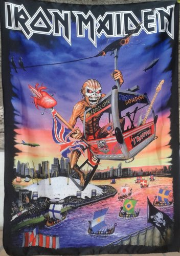 IRON MAIDEN The Book of Souls - London LP FLAG CLOTH POSTER TAPESTRY BANNER CD