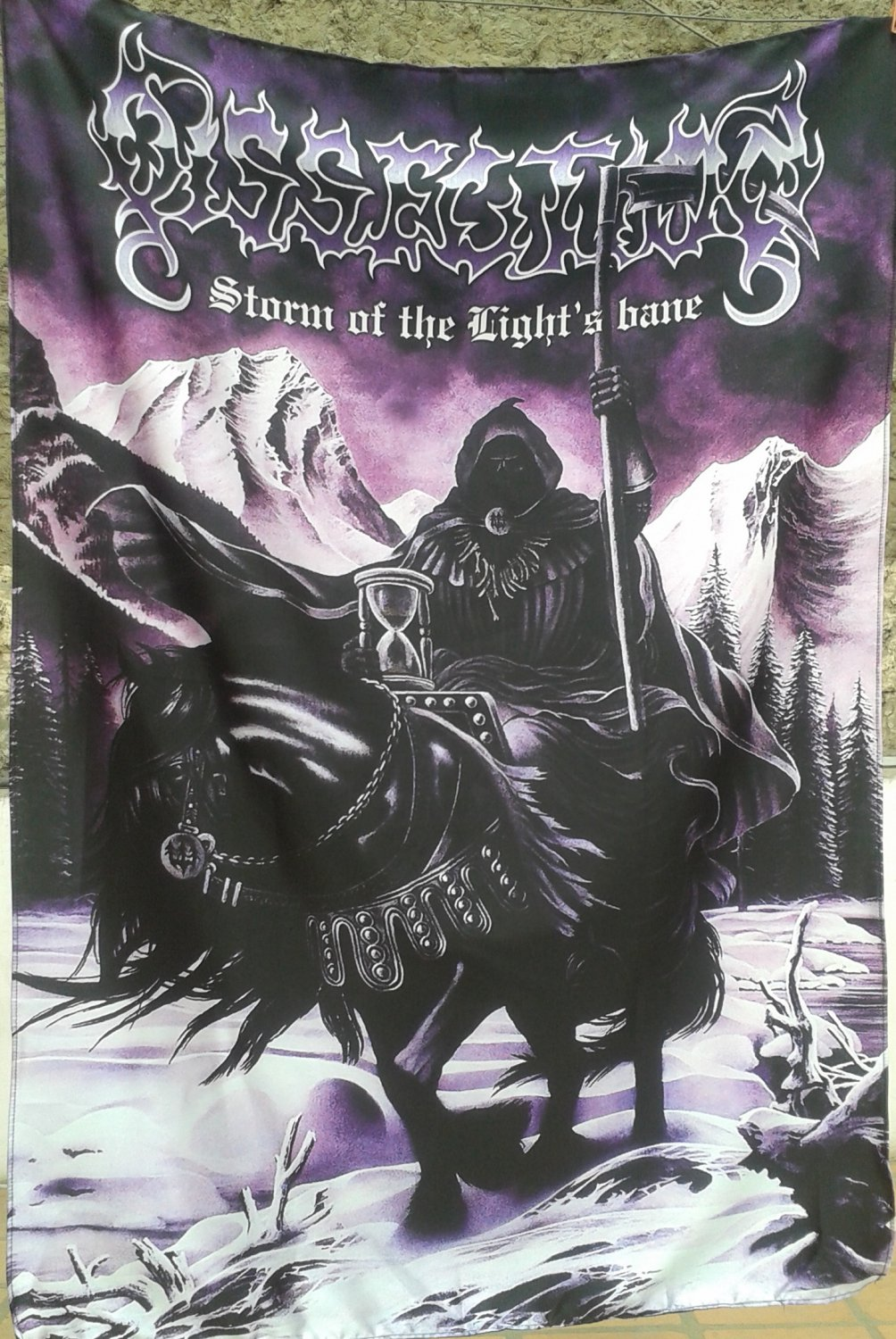 DISSECTION Storm of the Light's Bane FLAG CLOTH POSTER WALL TAPESTRY BANNER Black Death Metal