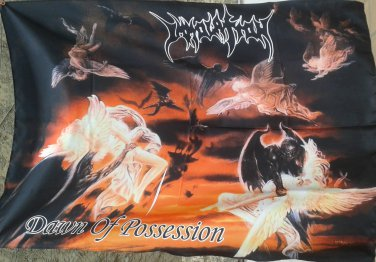 IMMOLATION Dawn of Possession FLAG CLOTH POSTER WALL TAPESTRY BANNER Death Metal