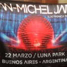 JEAN-MICHEL JARRE Luna Park Argentina Electronica Tour 2018 FLAG CLOTH POSTER WALL TAPESTRY CD