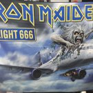 IRON MAIDEN Flight 666 FLAG CLOTH POSTER WALL TAPESTRY BANNER CD DVD