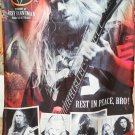 SLAYER Jeff Hanneman Tribute FLAG CLOTH POSTER WALL TAPESTRY BANNER CD Thrash Metal