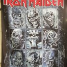 IRON MAIDEN Eddie Collage FLAG CLOTH POSTER WALL TAPESTRY CD LP Heavy Metal