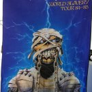 IRON MAIDEN World Slavery Tour 84-85 FLAG CLOTH POSTER WALL TAPESTRY CD LP