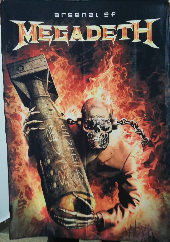 MEGADETH Arsenal DVD FLAG CLOTH POSTER WALL TAPESTRY BANNER CDThrash