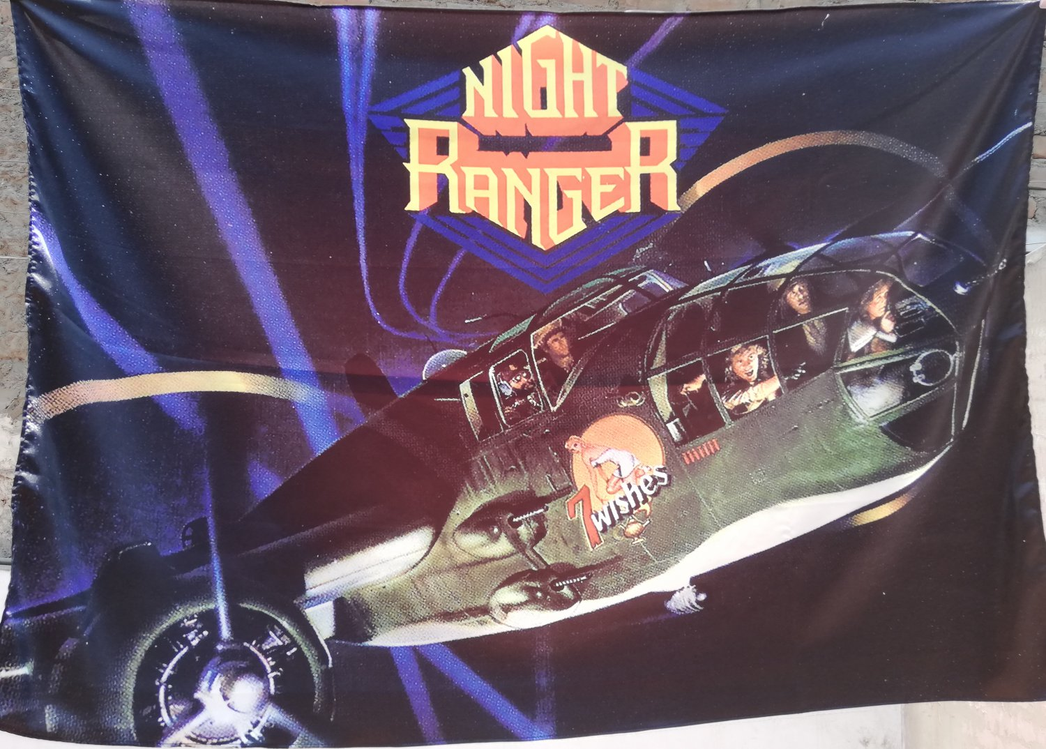 NIGHT RANGER Seven wishes FLAG CLOTH POSTER WALL TAPESTRY BANNER CD Hard Rock