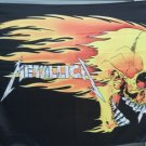 METALLICA Skull & Flames FLAG CLOTH POSTER WALL TAPESTRY BANNER CD Thrash Metal