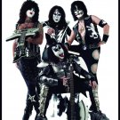 KISS Band in White Background FLAG CLOTH POSTER WALL TAPESTRY BANNER CD Hard Rock