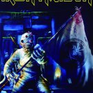 IRON MAIDEN Take Your Mummy On The Road - Blue FLAG CLOTH POSTER WALL TAPESTRY CD LP
