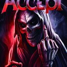 ACCEPT Life's a Bitch FLAG CLOTH POSTER WALL TAPESTRY BANNER Heavy Metal