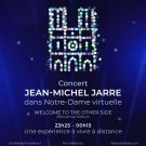 JEAN-MICHEL JARRE In Concert Virtual Notre Dame FLAG CLOTH POSTER WALL TAPESTRY CD Electronica