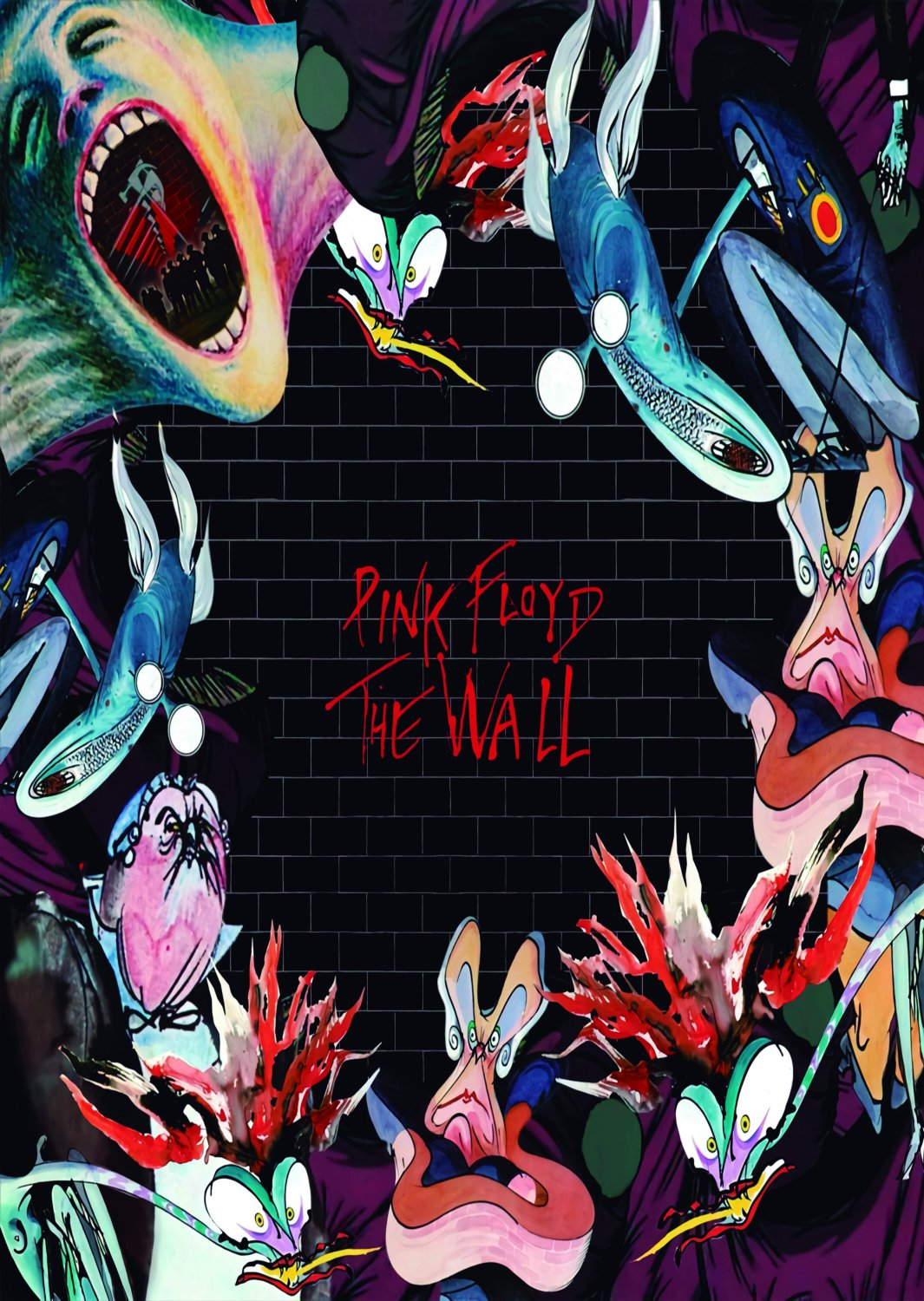 PINK FLOYD The Wall - Cartoons FLAG POSTER TAPESTRY BANNER CD Progressive Rock