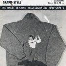 Mary Maxim No. 4141 Graph Style Knitting Pattern Unisex Golfer