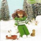 Annies AtticWinter Play Crochet Pattern for 7.5 inch Dolls by Annie`s Attic