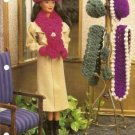 Annie's Attic: Barbie Doll Size Hats Scarves and Mittens Crochet Pattern