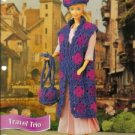 Annies Attic Barbie Doll Granny Square Travel Outfit Crochet Pattern
