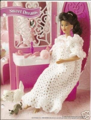 Annie S Attic Barbie Doll Size Crochet Nightgown And