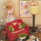 Sitting Pretty Love Seat Table Lamp Barbie  Doll Size Plastic Canvas Pattern