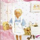 Annie's Attic: 9.5 Inch Doll Ruffled Pinafore Crochet Pattern